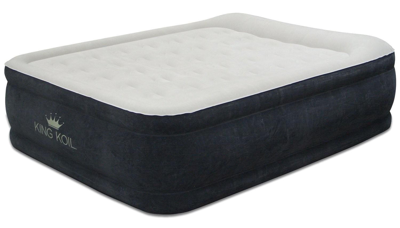 king koil queen size comfort quilt top airbed built internal pump