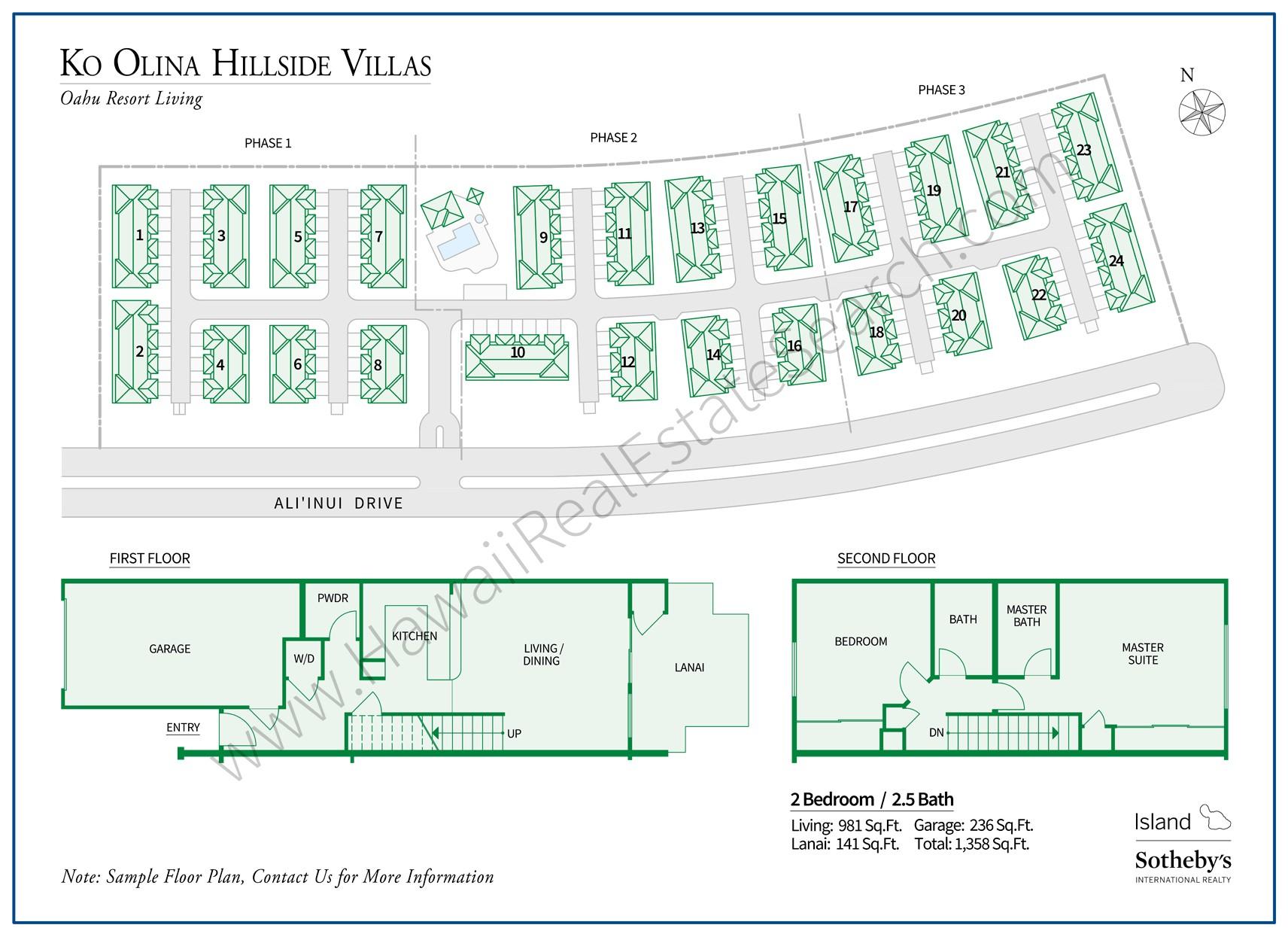 ko olina hillside villas property map