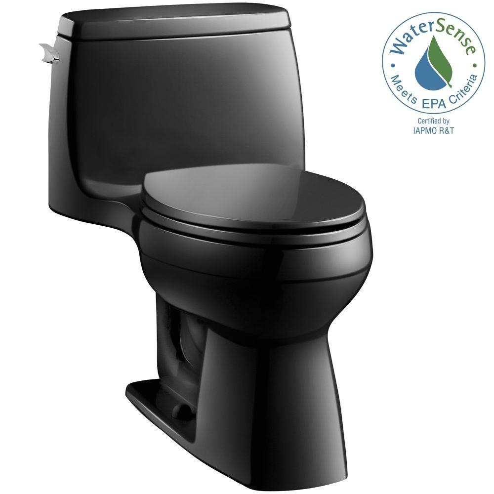 kohler santa rosa comfort height 1 piece 1 28 gpf single flush compact elongated toilet with