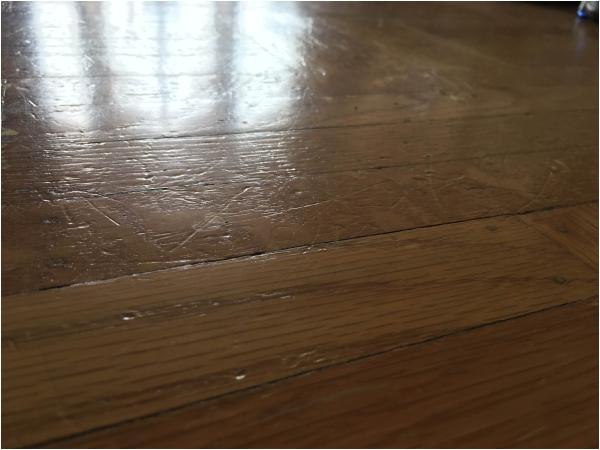 564867 scratches my big dog hardwood floor what should i do