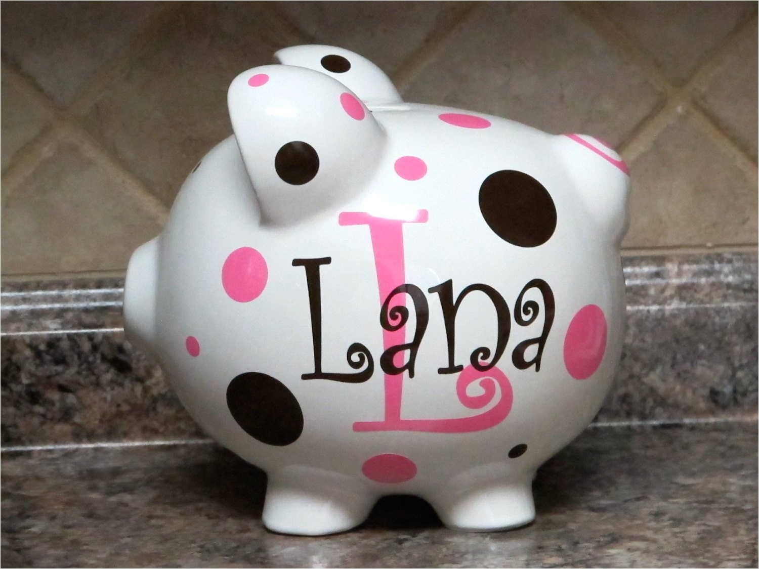 Large Personalized Piggy Banks Large Personalized Ceramic Piggy Bank