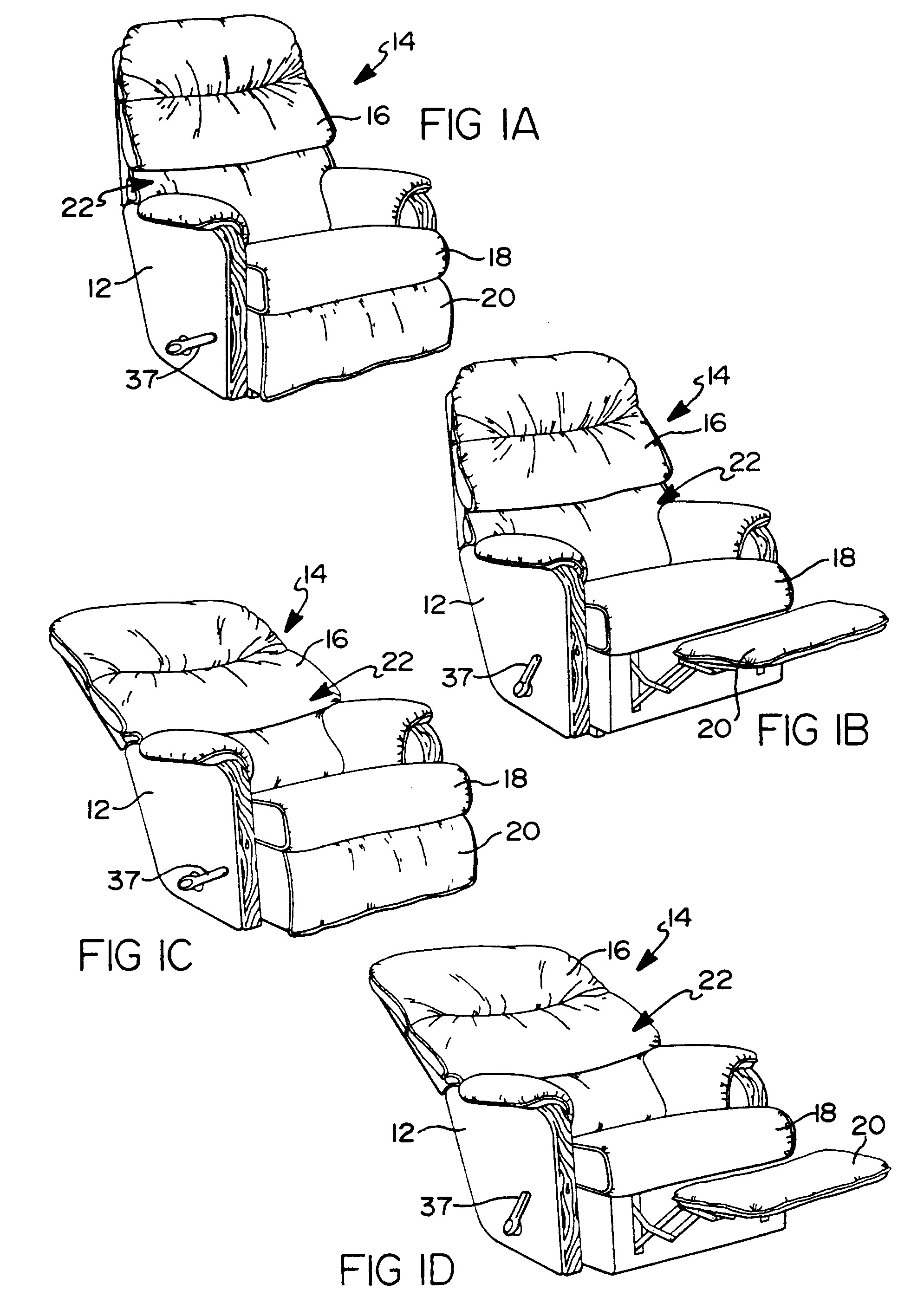 lazy boy recliner rest diagram