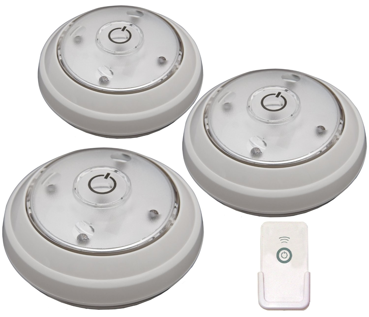 Enviro Satin Nickel Metal Led Puck Light 3 Pack I: Led Puck Lights At Home Depot