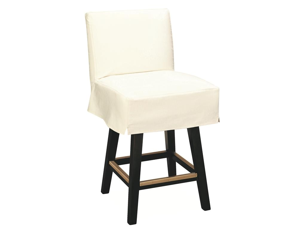 Lee Industries Swivel Bar Stools Lee Industries Bar and Game Room Slipcovered Swivel