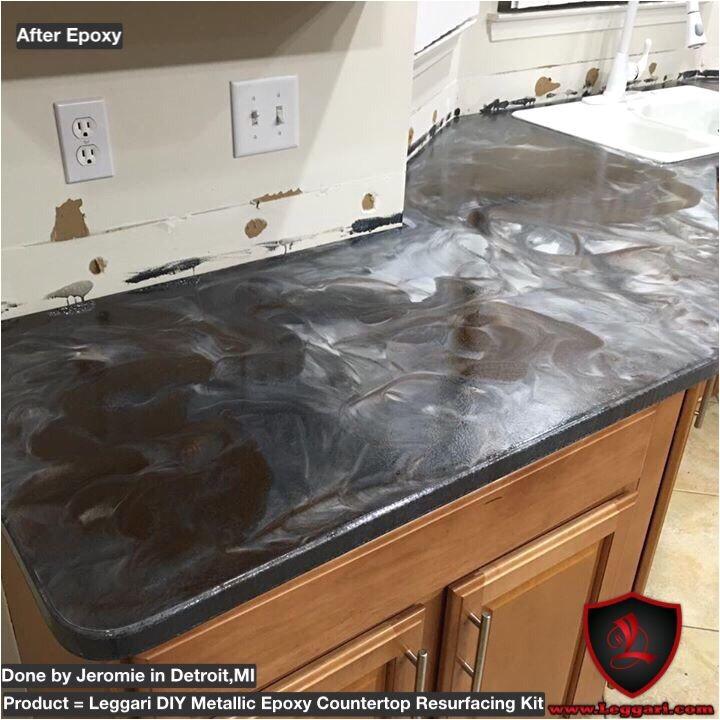 leggari products diy metallic epoxy countertop res