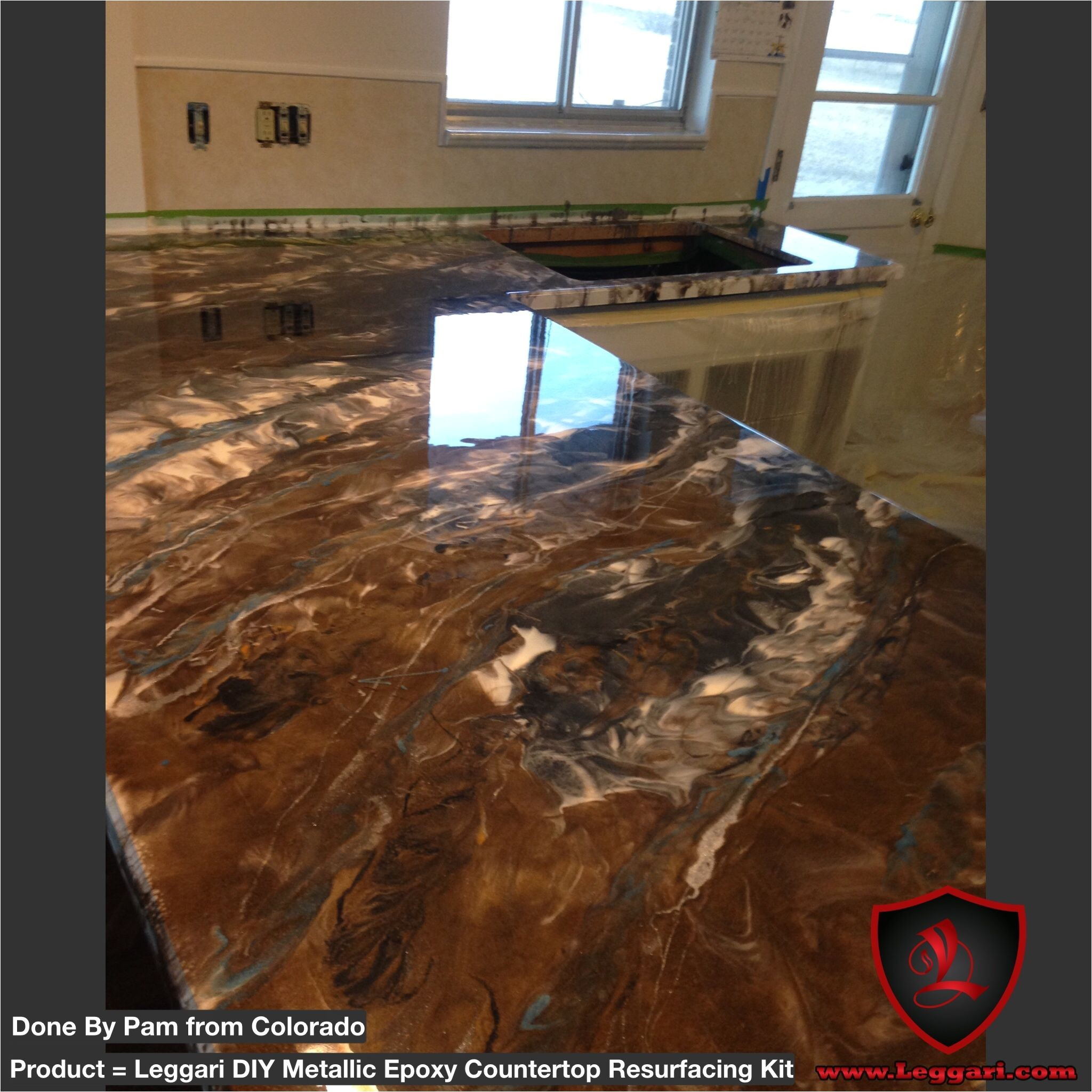 diy metallic epoxy countertop resurfacing kits homeimprovementkitchencountertops