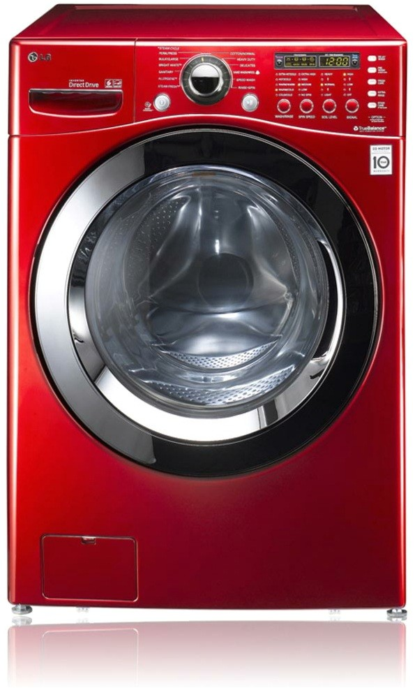lg frontload washer le displayed