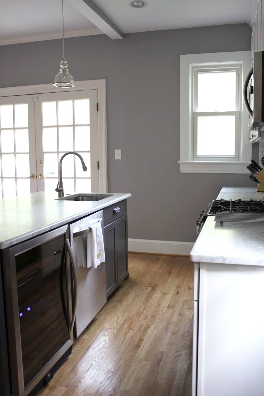 behr porpoise i love the gray walls with the wood floors i have this in my home