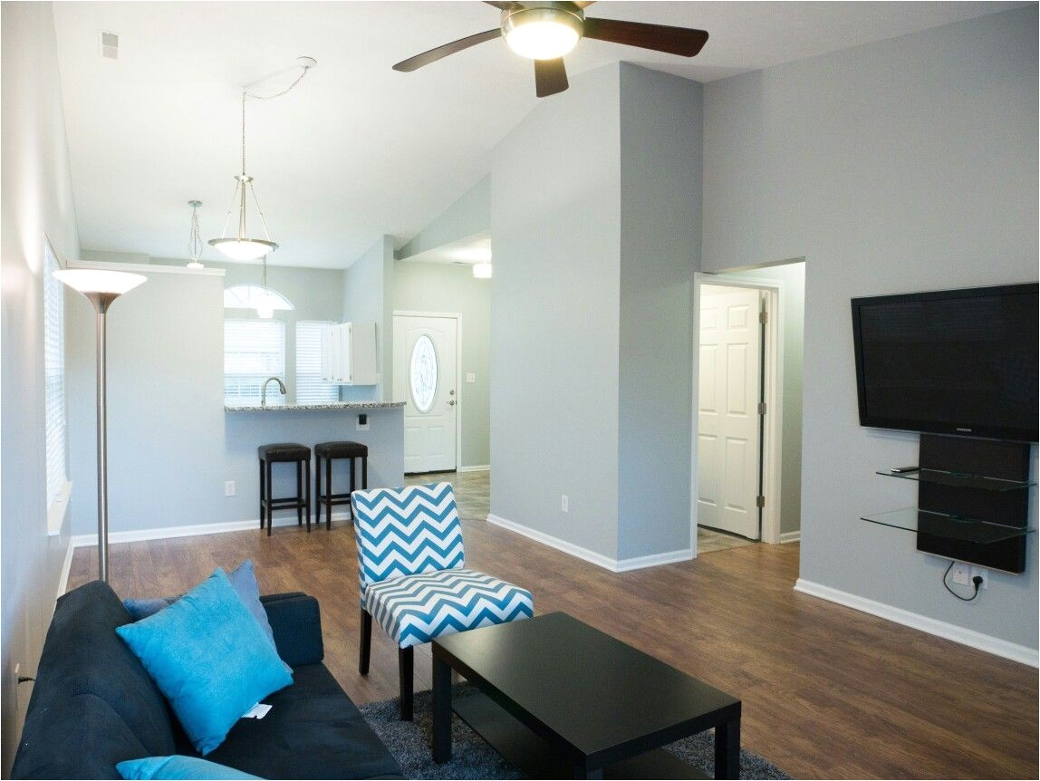 wall color is behr frosted silver in eggshell floors are home depot home decorator brand in hand scraped light hickory