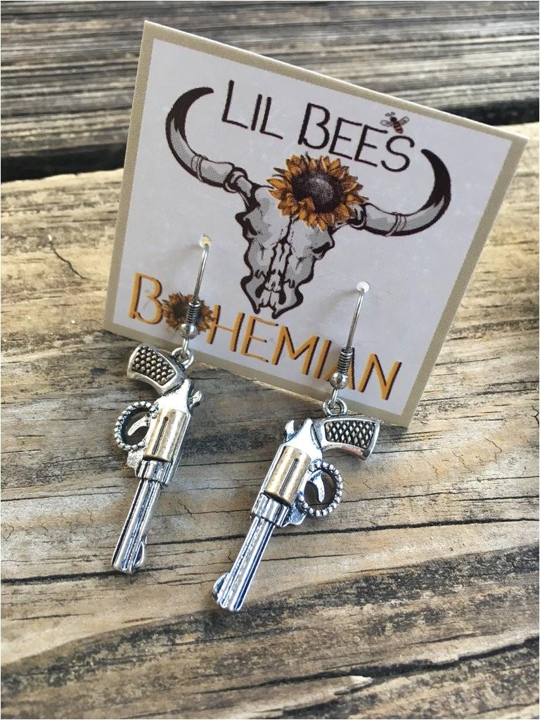 pistol whipped earrings