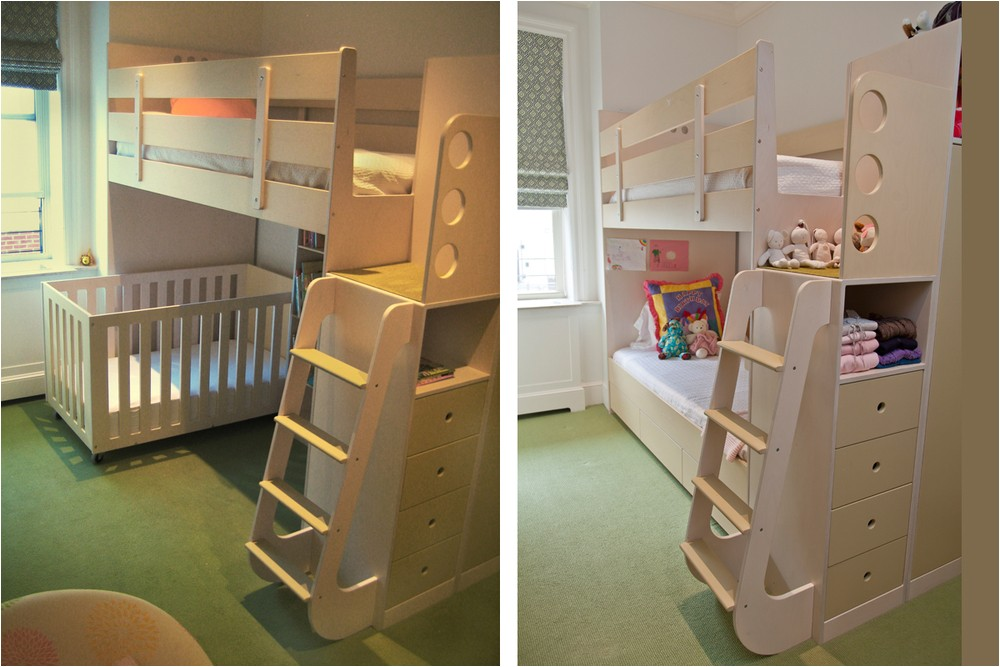 Loft Bed with Room for Crib Underneath Celia and Tamsen Casa Kids
