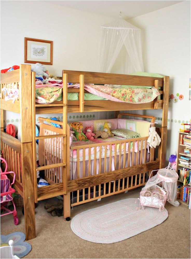 Loft Bed With Room For Crib Underneath Toddler Bunk Bed With Crib