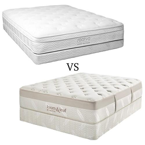 saatva vs loom and leaf which heavyweight mattress is best