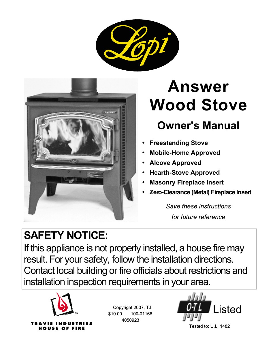 lopi answer wood stove page1 png