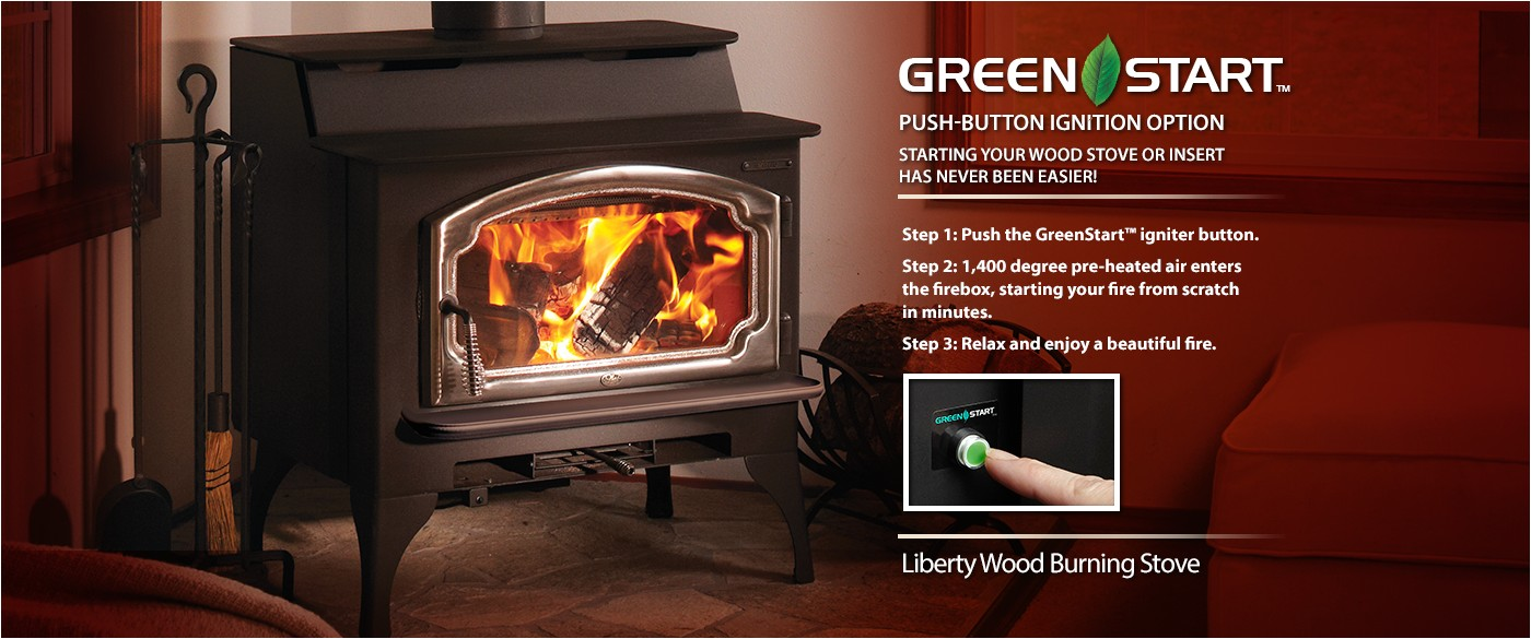 liberty wood burning stove with greenstart ignition