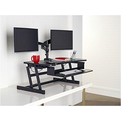 lorell llr99759 deluxe ergonomic sittostand monitor riser ap b01lquod6y