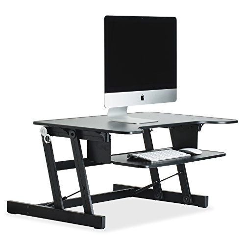 Lorell Sit-to-stand Monitor Riser Black Lorell Sit to Stand Monitor Riser Black Import It All