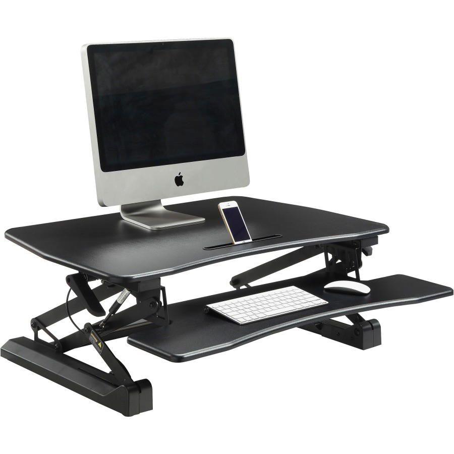 Lorell V2 Gas Lift Sit to Stand Desk Riser Lorell Gas Lift Monitor Riser Rrofficesolutions Com