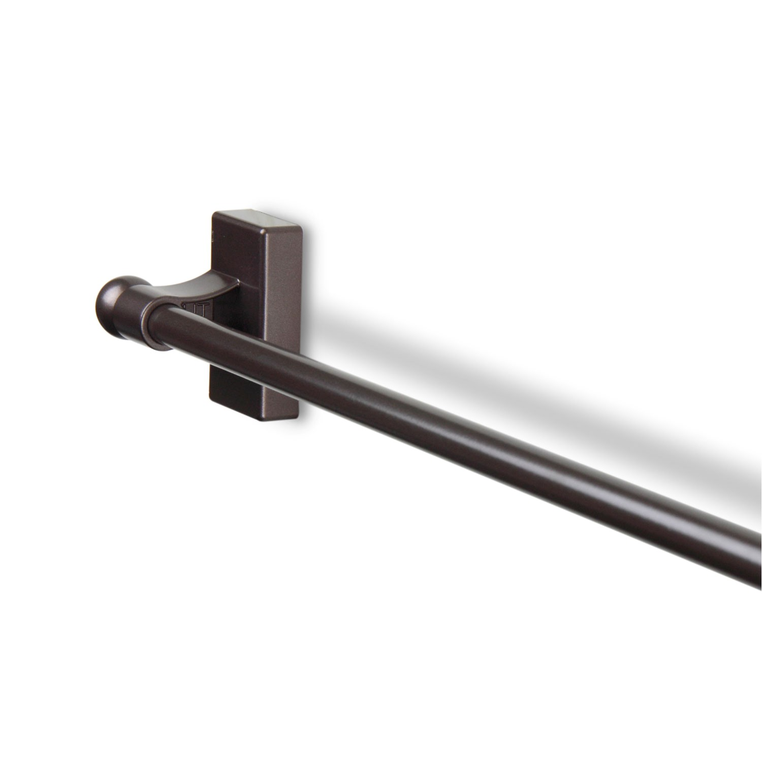 rod desyne mag 07 cocoa 17 to 30 inch magnetic curtain rod 1620517