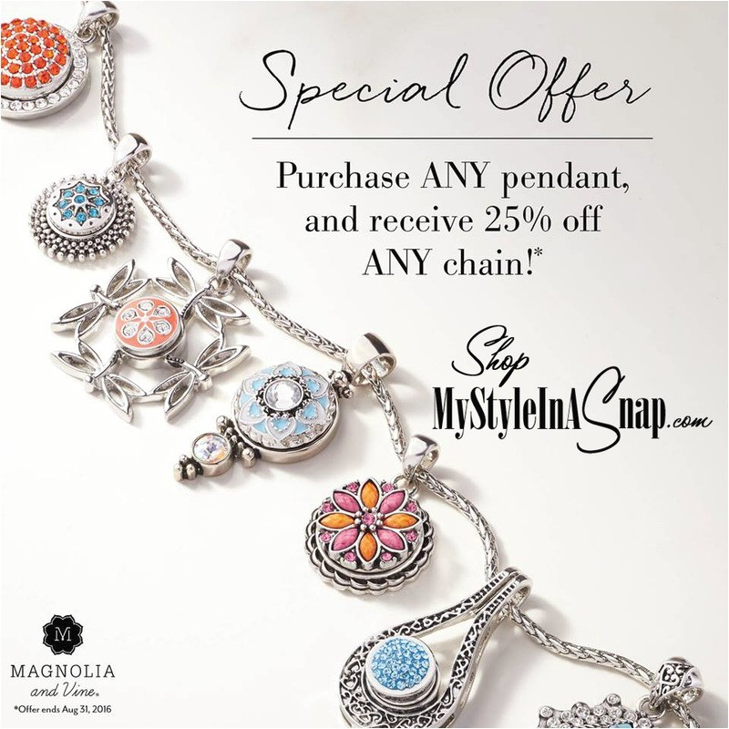 Magnolia and Vine Catalog Interchangeable Snap Jewelry and Accessories My Style In
