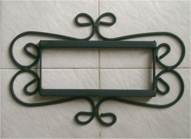 Mexican Tile House Numbers with Frame 2 Mexican 4×4 Tiles House Numbers Iron Frame Ebay