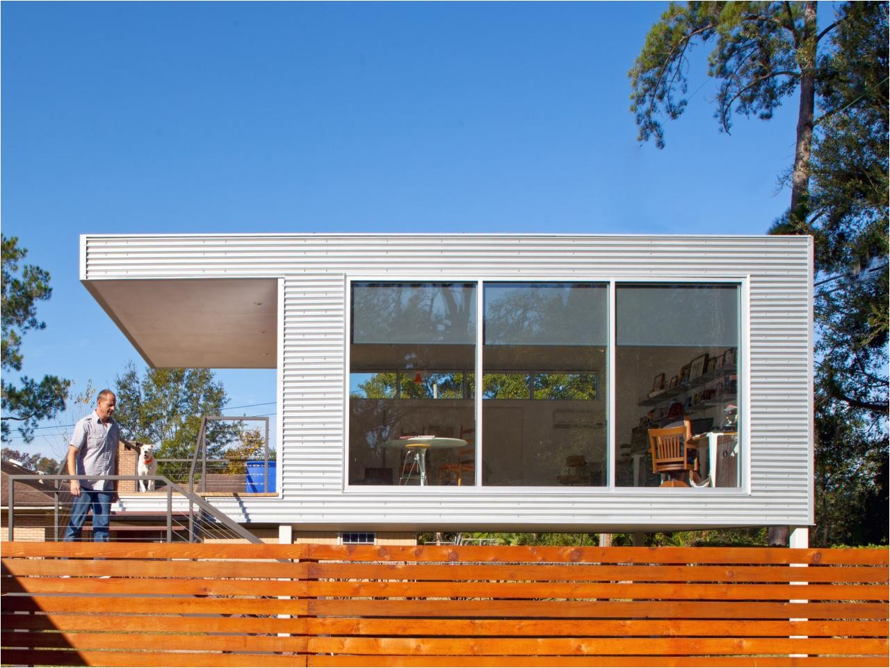 mid century modern prefab addition pictures