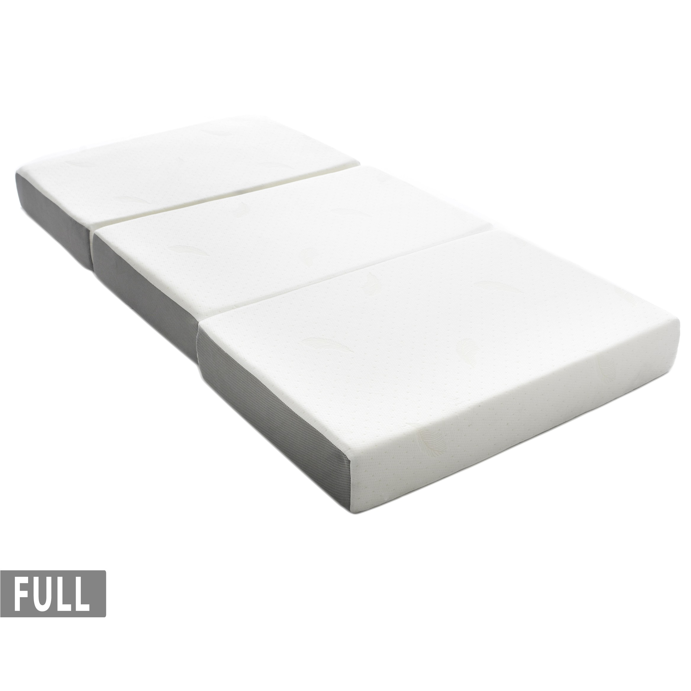 milliard 6 inch memory foam tri fold mattress with ultra soft removable cover with non slip bottom full 2