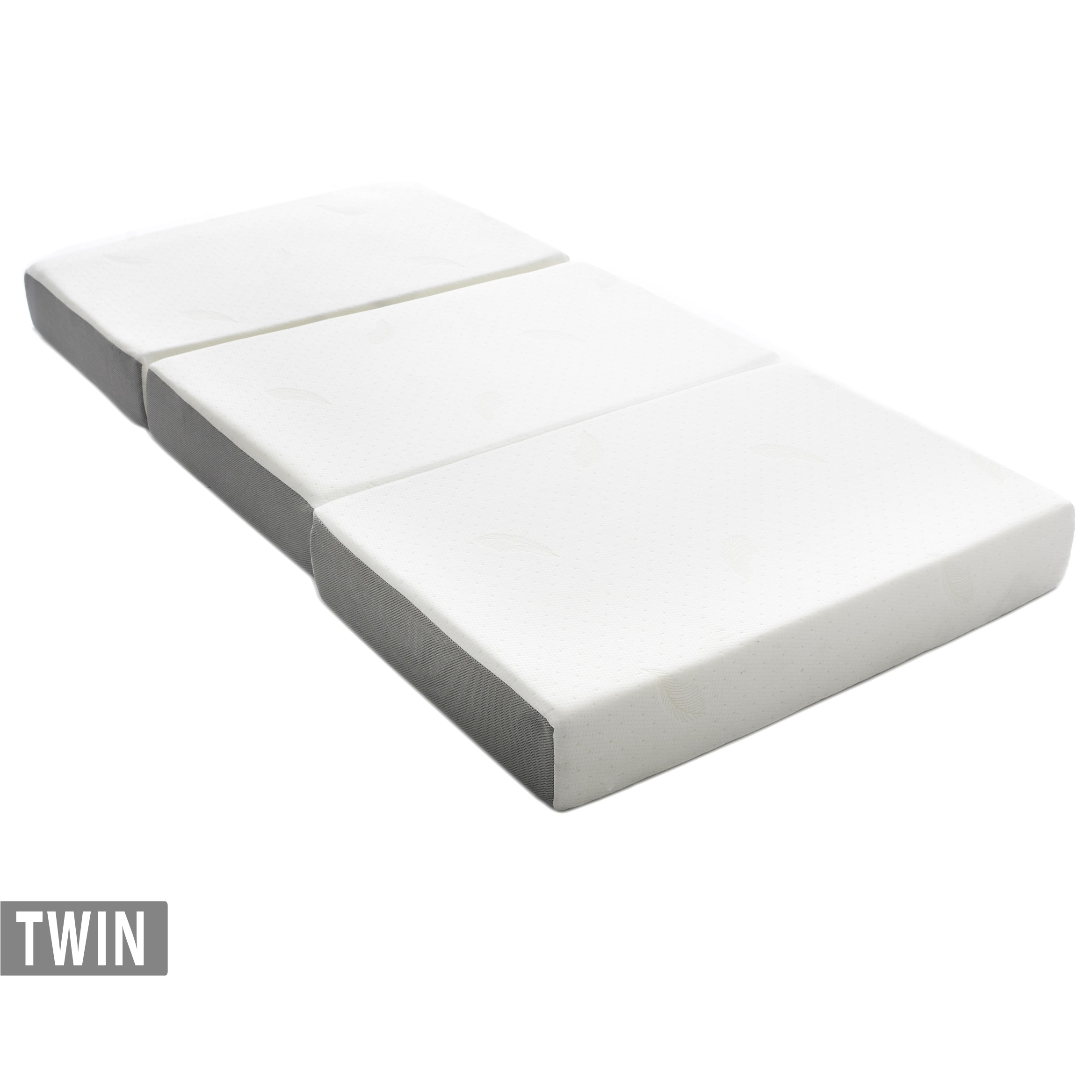 milliard 6 inch memory foam tri fold mattress with ultra soft removable cover with non slip bottom twin
