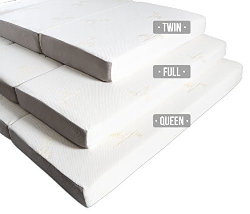 milliard 6inch memory foam trifold mattress with ultra soft removable cover with nonslip bottom twin ap b00dj8hx96