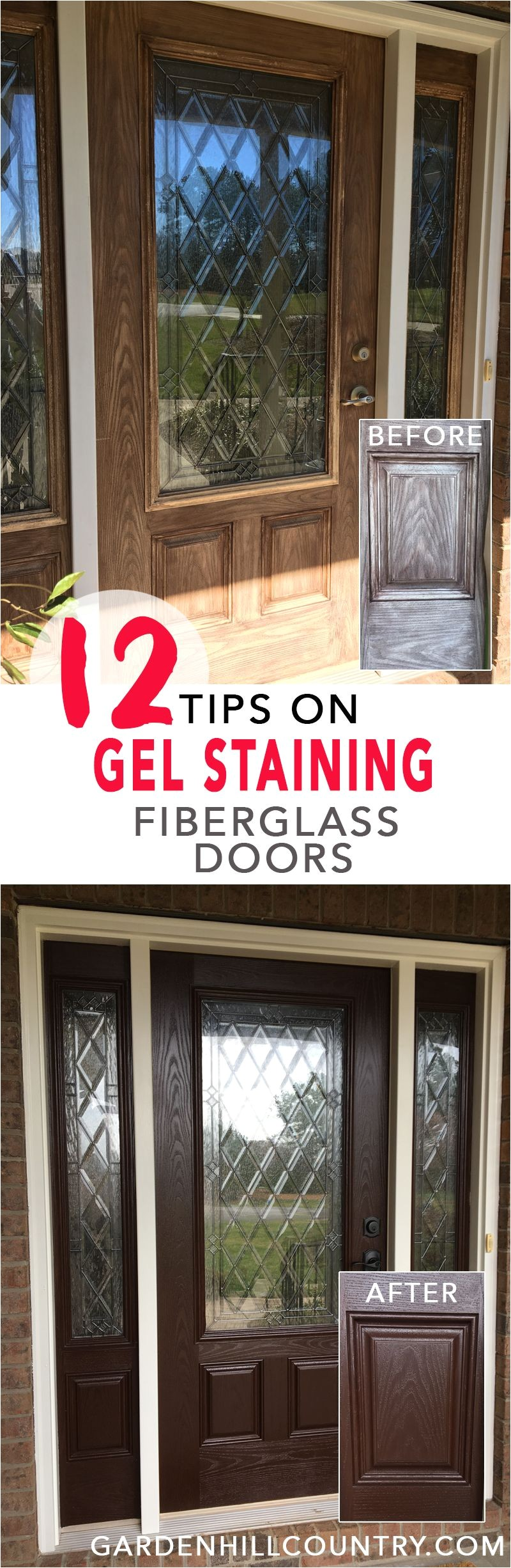 here are 12 tips for gel staining fiberglass doors including information on supplies surface preparation gel application dry time and more
