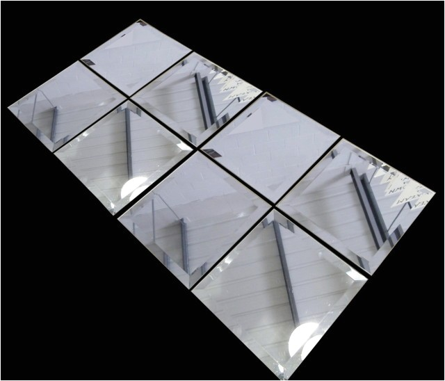 13773 peel and stick mirror wall tiles