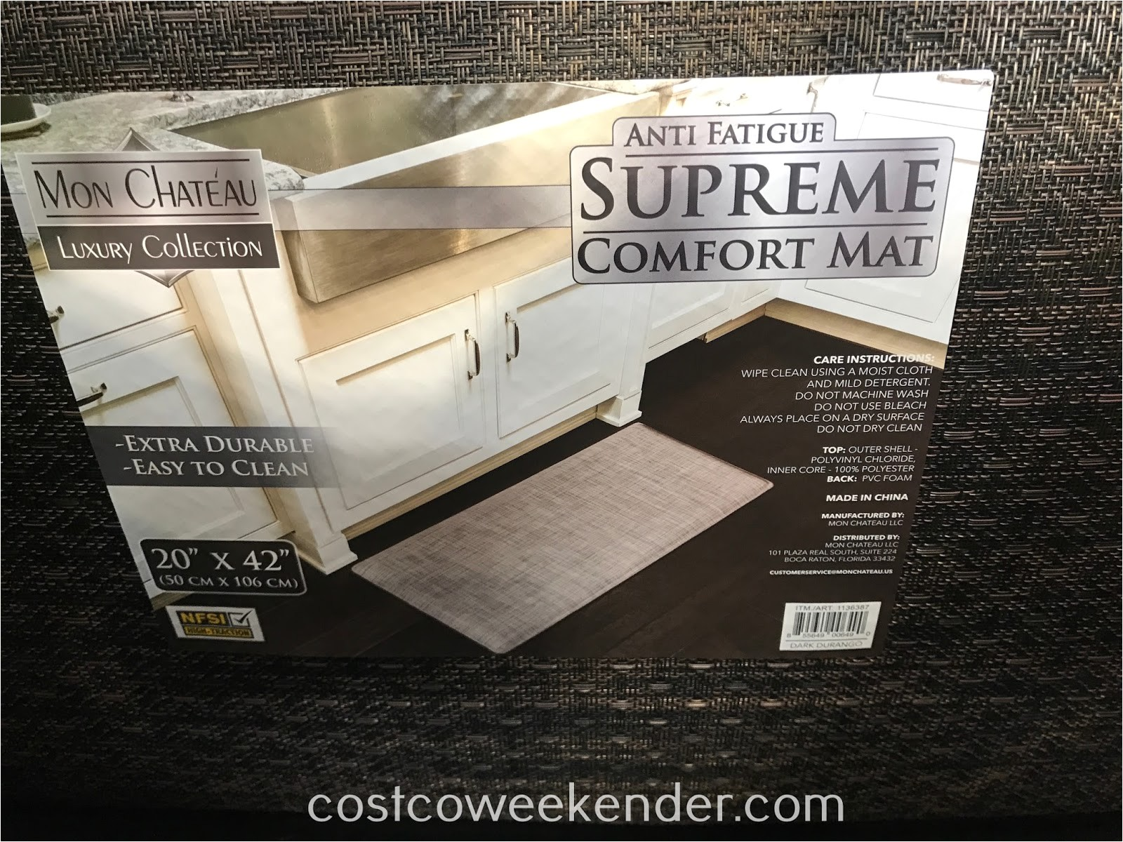Mon Chateau Anti Fatigue Mat 20×42 May 2017 Costco Weekender