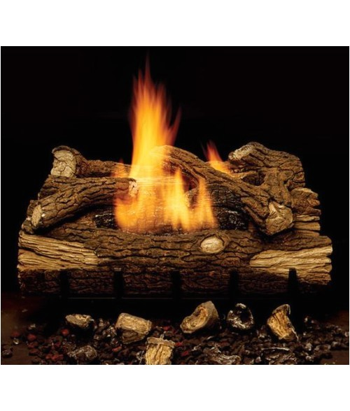 monessen mountain oak vent free gas log set with burner