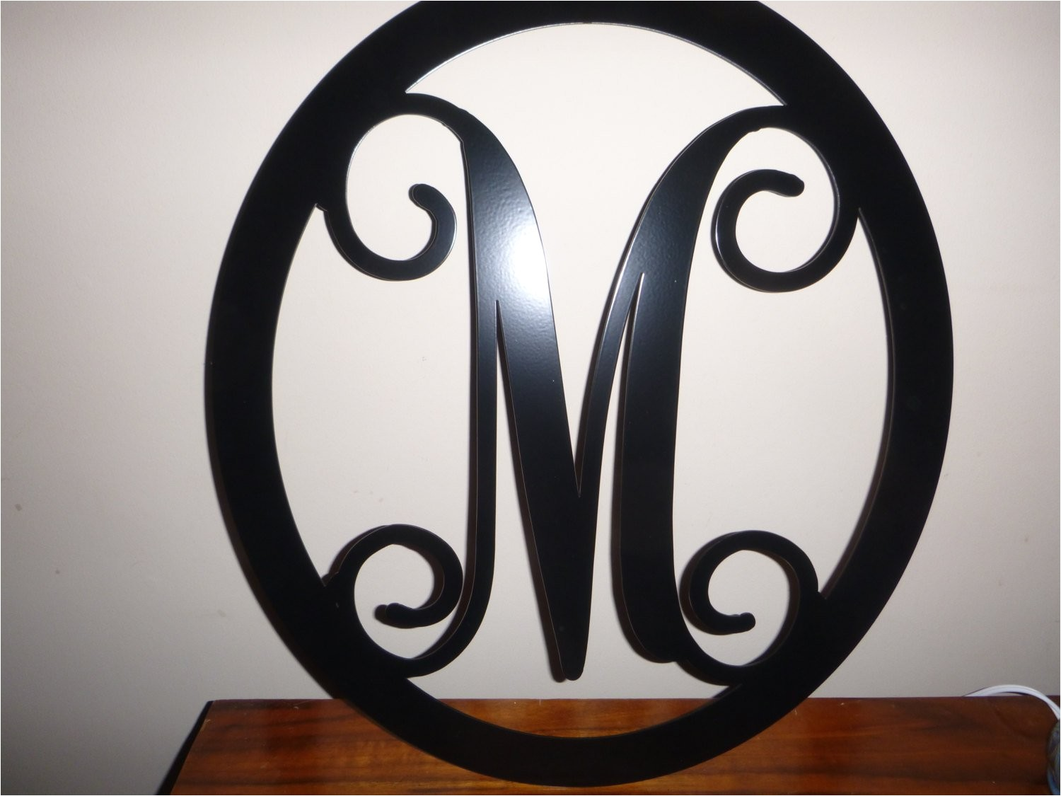 12 metal monogram door hanger front door