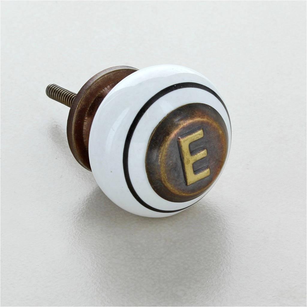antique monogram ceramic door knobs pull handles