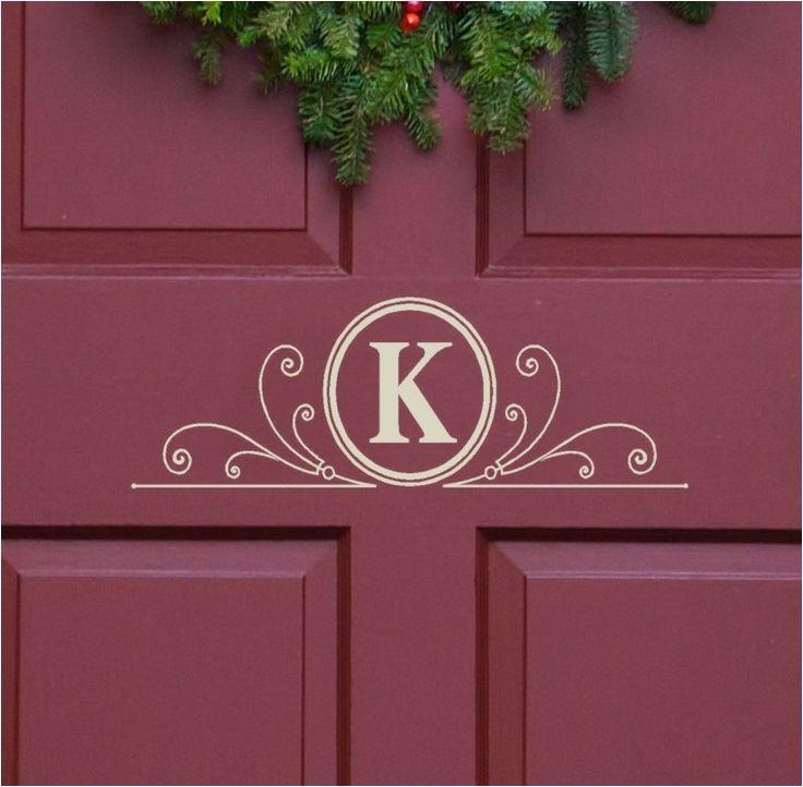 metal monogram letters for front door