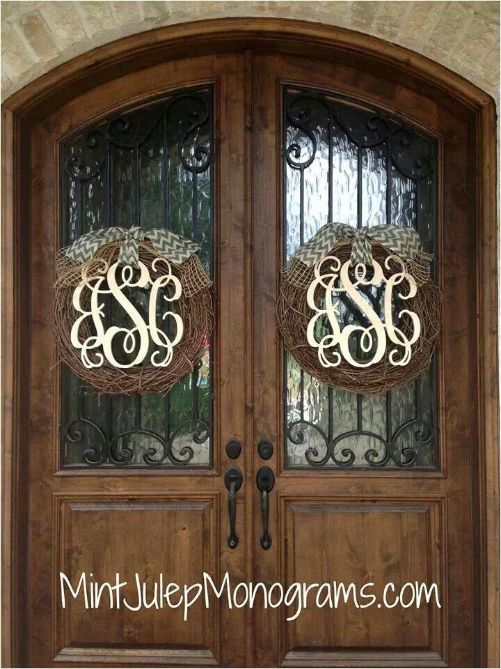 refreshing monogrammed wreaths for front door living room best modern monogrammed wreaths for front door 9613b11a4a690c52