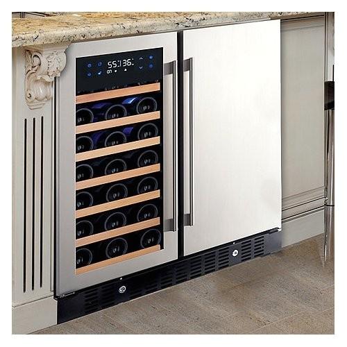 nfinity pro 24 bottle beverage zone wine refrigerator 236 02 40 02 wine1988