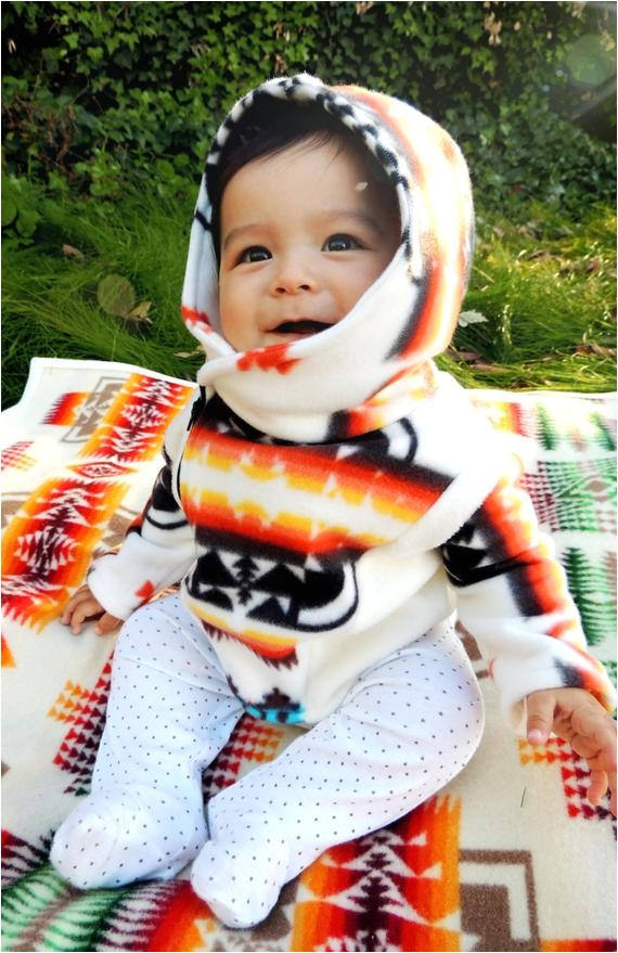 native american baby fleece jacket
