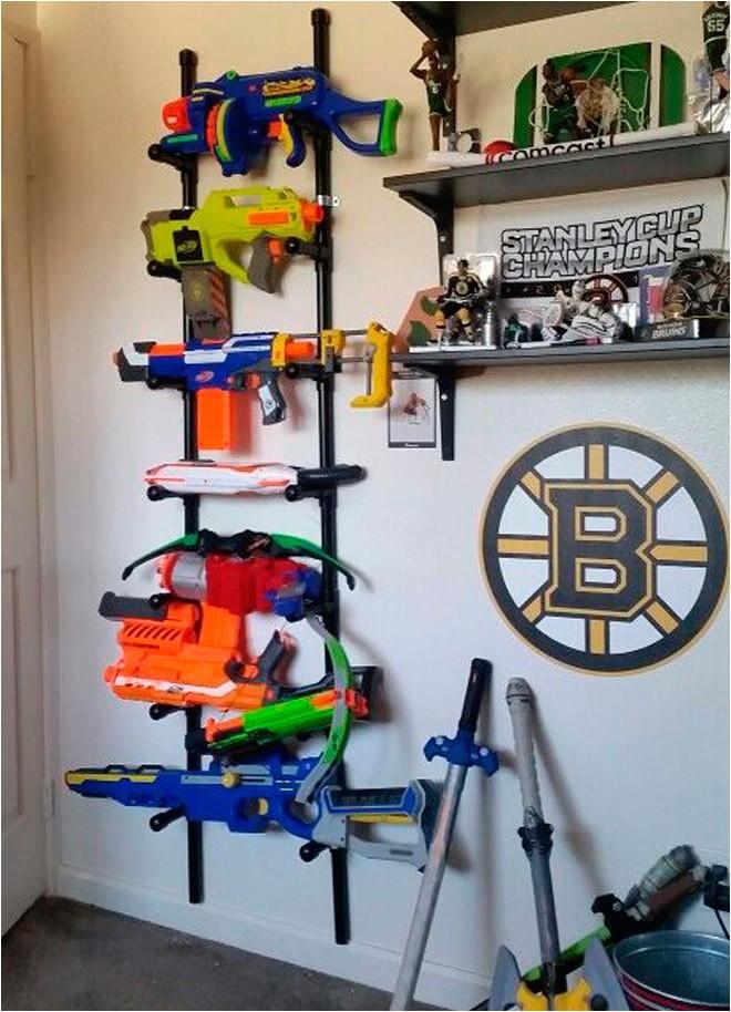 ways to store nerf guns