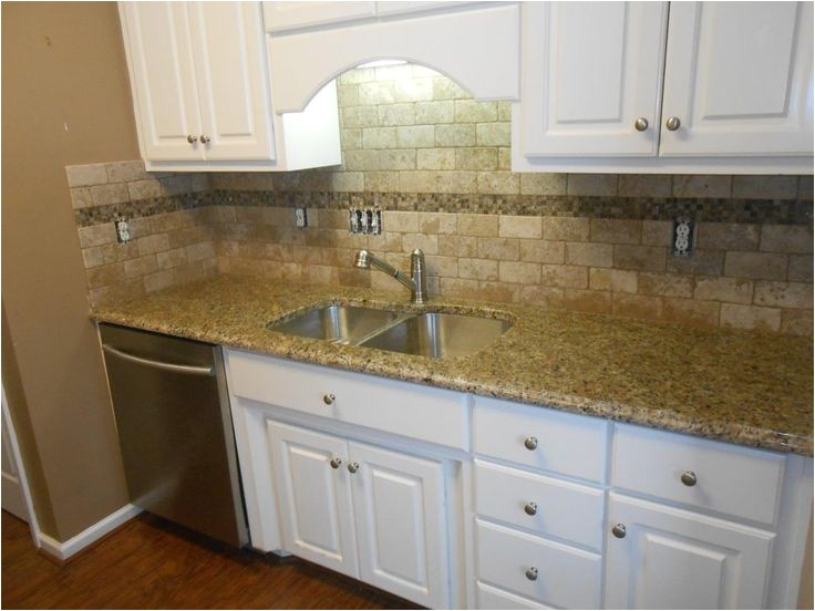 New Venetian Gold Granite With Glass Tile Backsplash Adinaporter