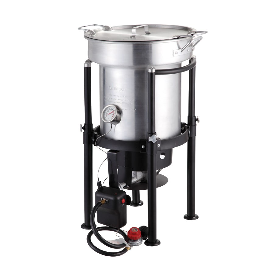 North American Outdoors Turkey Fryer Shop north American Outdoors Saf T Cooker 35 Quart 20 Lb