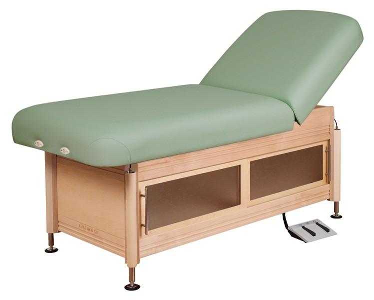 oakworks clinician electric hydraulic lift assist backrest top