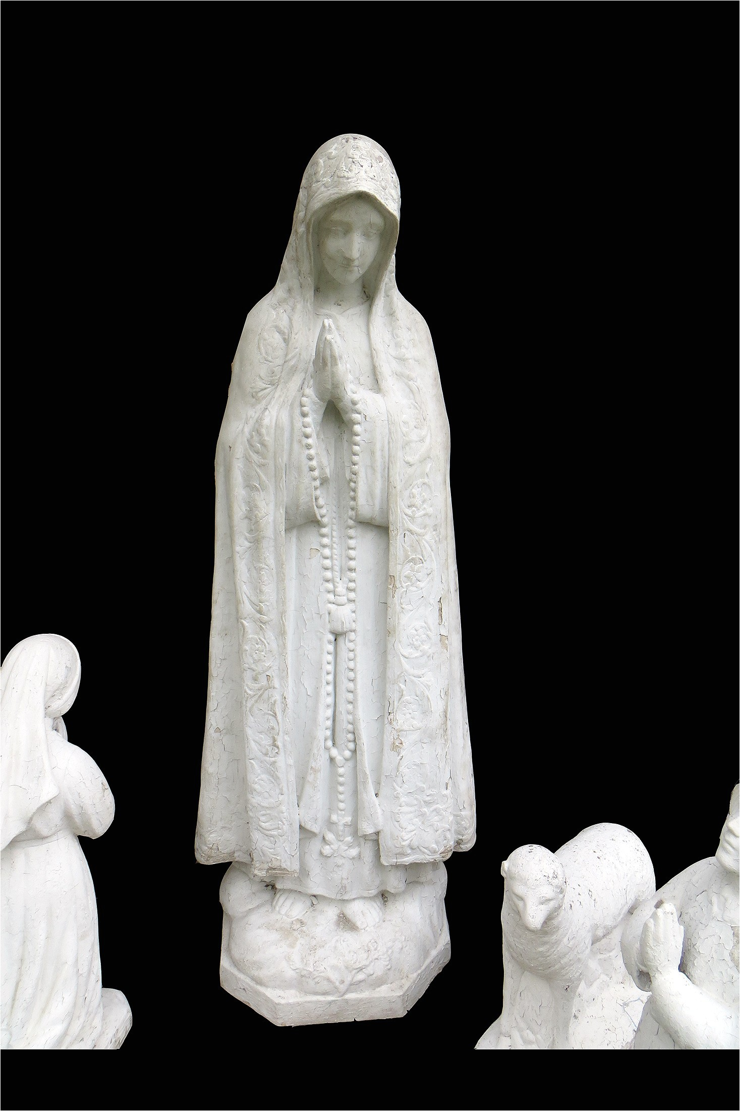 Our Lady Of Fatima Outdoor Statue Vintage Catholic Concrete Outdoor Our Lady Of Fatima