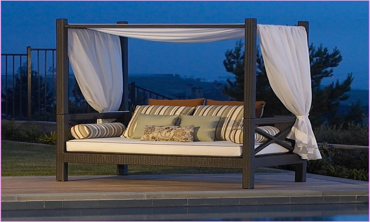 Outdoor Daybed With Canopy Costco Adinaporter
