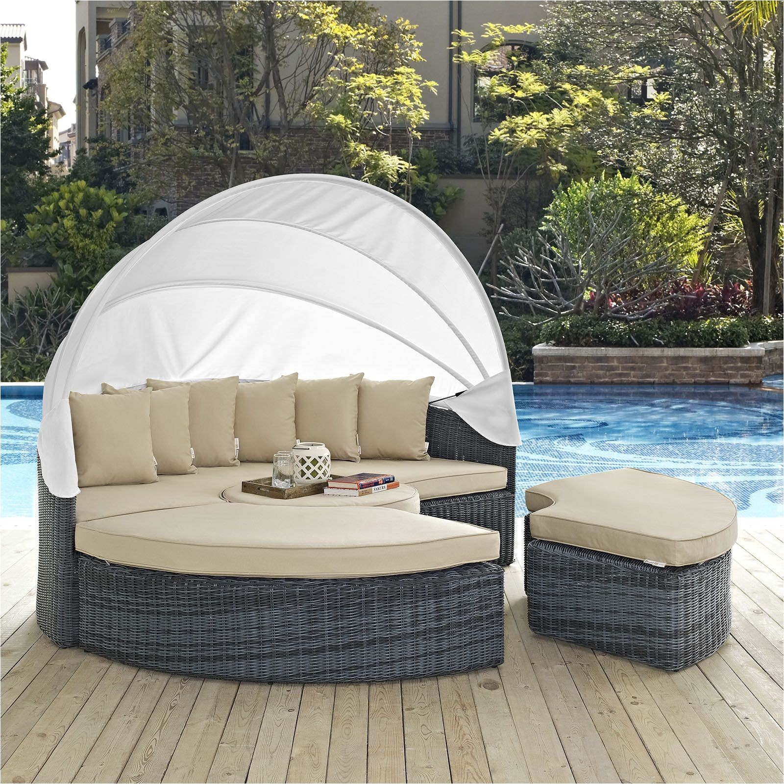 summon antique canvas beige canopy outdoor patio sunbrella