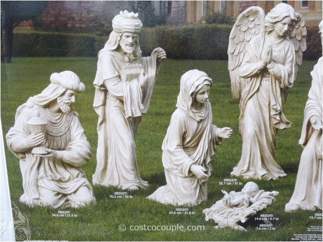 Outdoor Nativity Sets Costco 9 Piece Outdoor Nativity Set