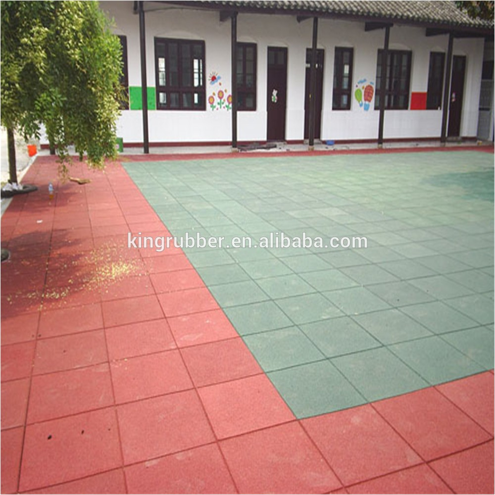 Outdoor Rubber Flooring for Playground Outdoor Playground Rubber Flooring Fire Retardant
