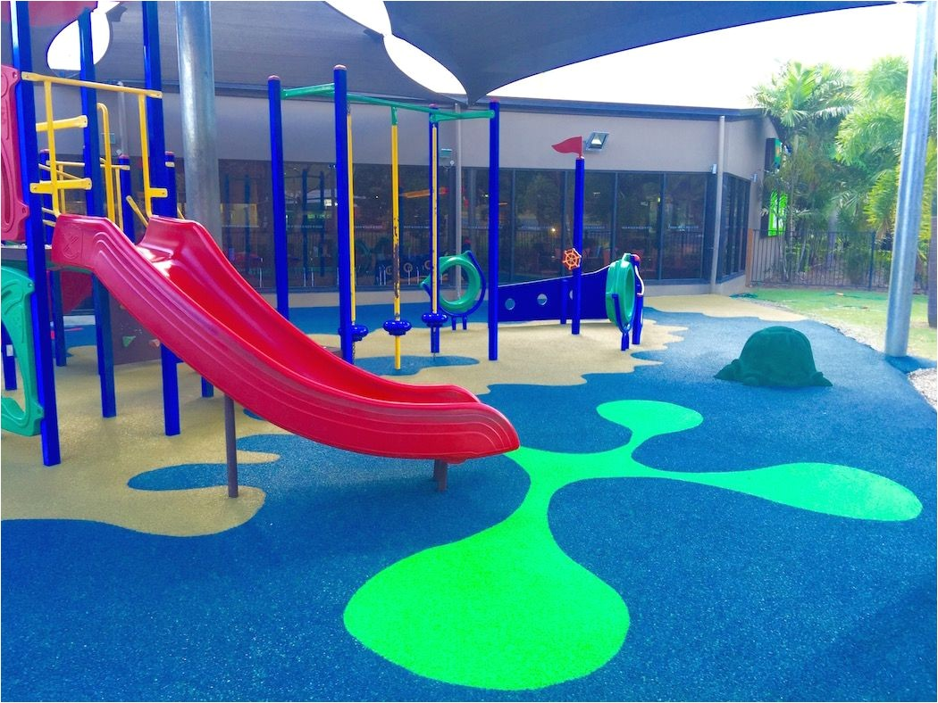 poured rubber outdoor playground flooring
