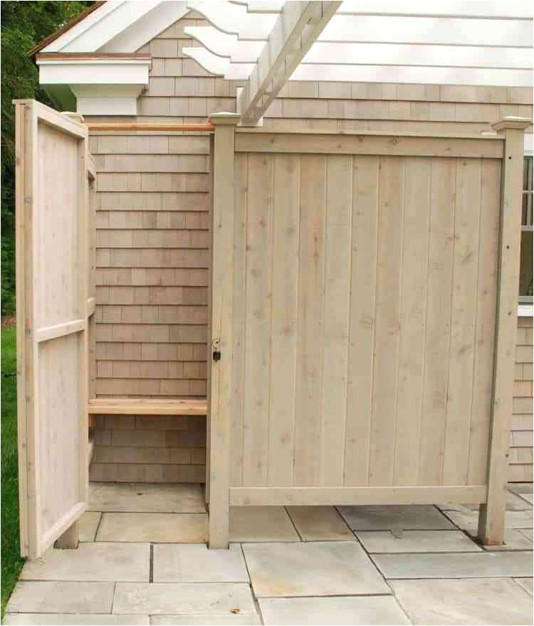 outdoor shower enclosure kit outside stall kits cape cod awesome for exterior design australia